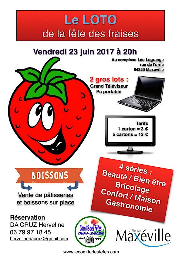 loto fête des fraise 2017